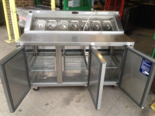 Catering Commercial Kitchen Equipment Pizza Salad Meze Topping Fridge Restaurant Fast Food Take Away