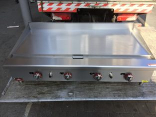 New 120 Cm Gas Flat Grill Catering Commercial Kitchen Equipment Fast Food Restaurant Cafe Kebab