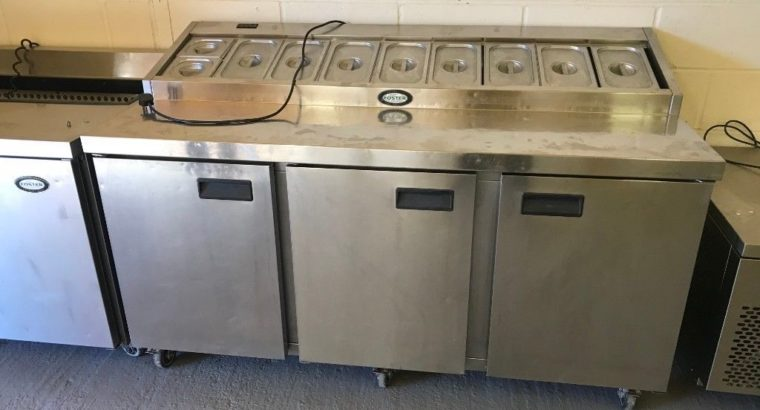 Foster Pizza Meze Topping Fridge Catering Commercial Kitchen Equipment Cafe Kebab Chicken Restaurant