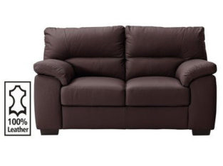 Piacenza 2 Seater Leather Sofa – Walnut