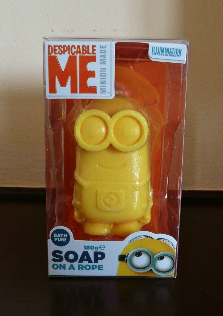 Novelty 180g Yellow Despicable Me Minions Soap on a Rope Gift Idea Birthday Fathers Day