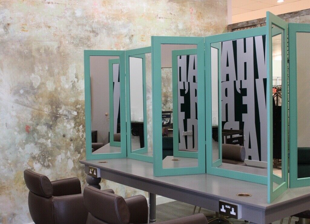 Salon Furniture Hairdressing Dress out table & mirrors