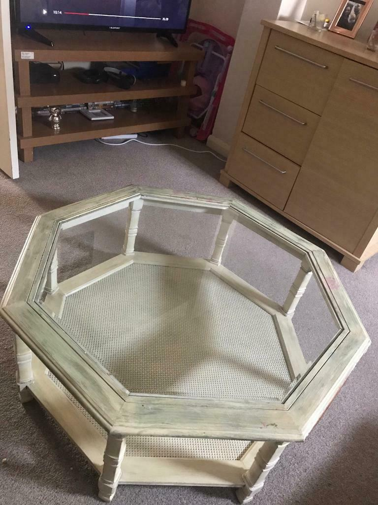 Wooden and glass table for sale