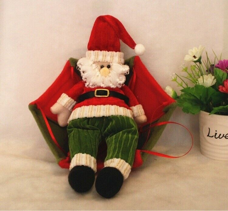 Xmas Decorations with a difference. Delightful 60cmsParachute Santas and Snowmen