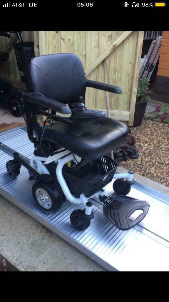 Heavy Duty Travelux Mobility Power Chair 6 Wheels Excellent Batteries Lightweight W/Charger Only£490