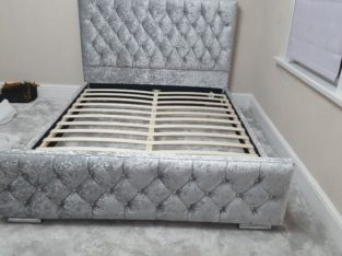 Brand New King Size Valvet Bed- High Quality