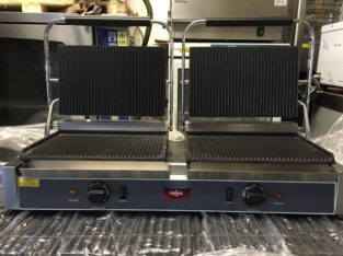 Catering Commercial Kitchen Equipment Xxl Size Double Panini Contact Grill Cafe Chicken Restaurant