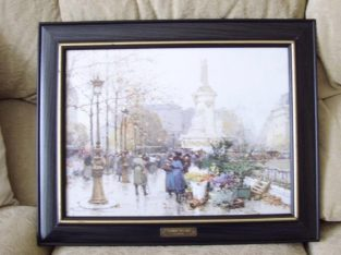 Large Picture In Good Quality Frame. It Is 20 Inches By 17 Inches In Size. Nice Condition