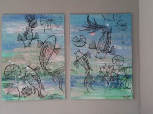 Two Large A1 Canvas Paintings