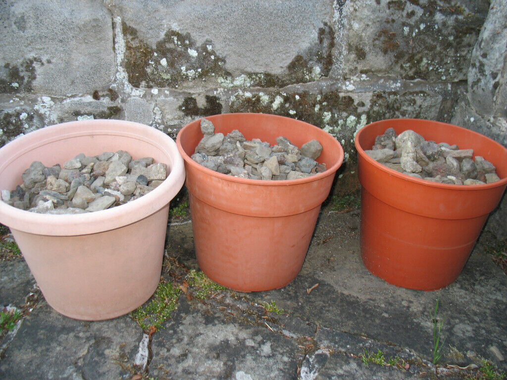 Gardening stones, pebbles, decoration, pond, incl.pots + bag