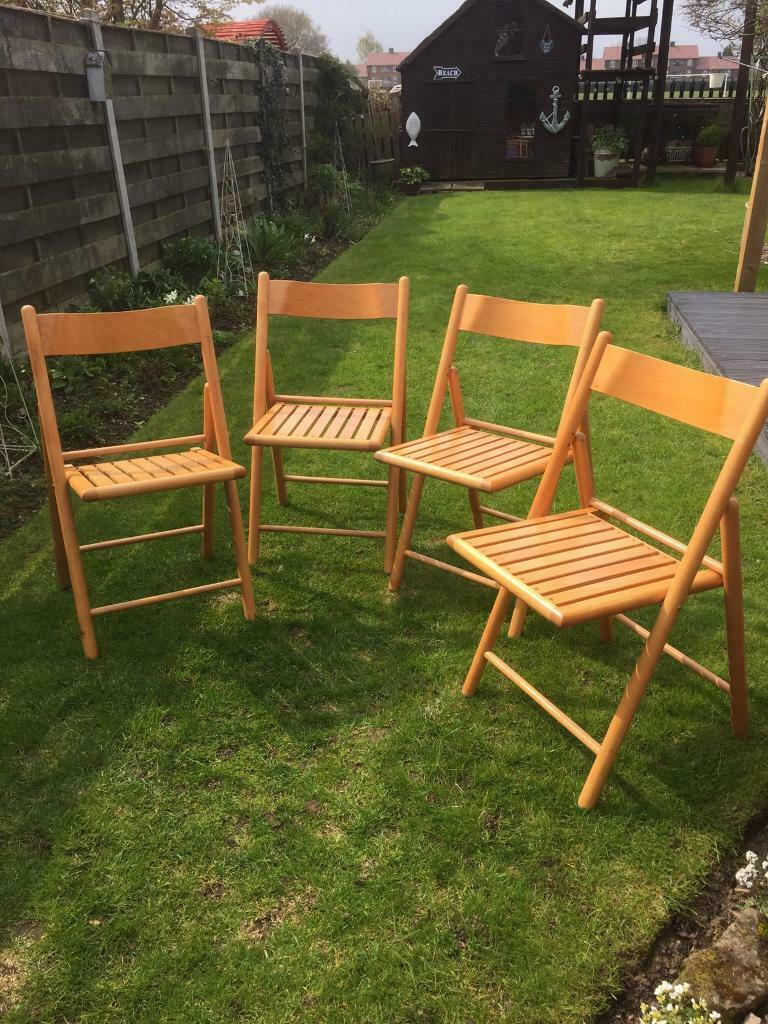 Wooden Folding Garden/ Kitchen Chairs
