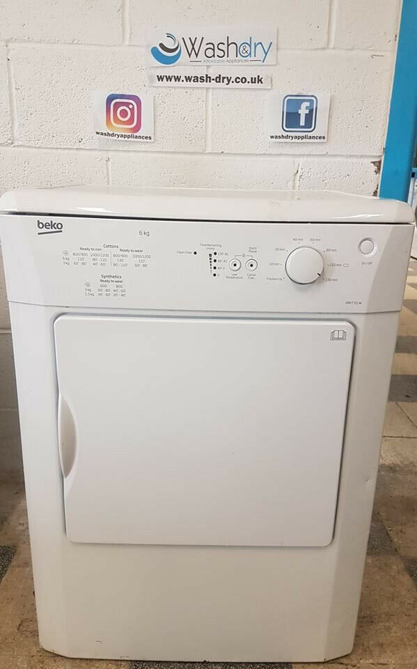 white beko 6kg vented dryer come with warranty can be delivered or collected ud156